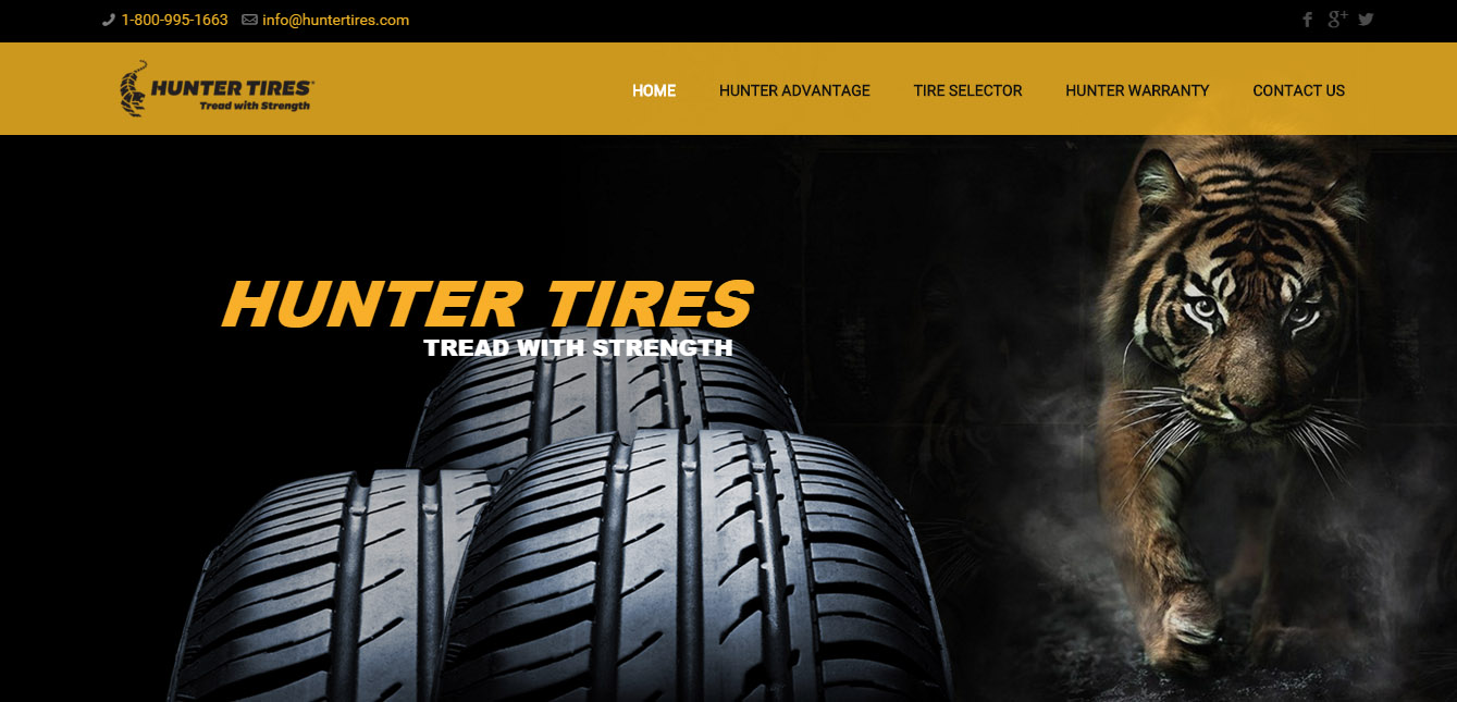 Hunter Tires - Full Site Development - www.huntertires.com