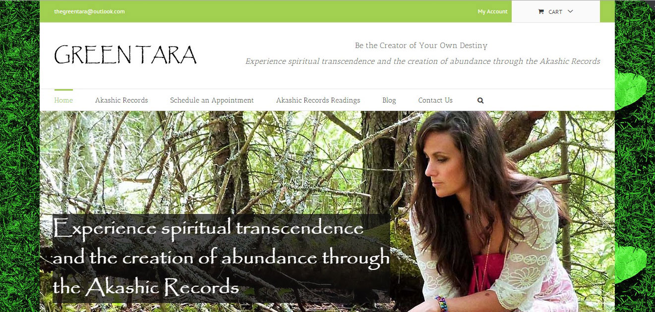Green Tara Wellness - Full Site Development - www.thegreentarawellness.com